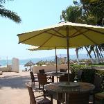 Beach access at the sister resort