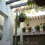 Courtyard in the condo building