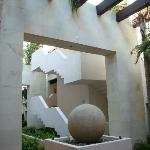 Courtyard in the condo building