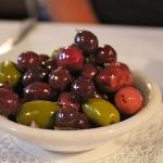 A wonderful assortment of marinated olives.