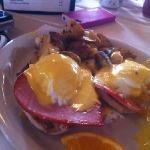 eggs Benedict with Country ham (already started eating)