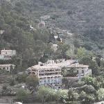 Blick von Deia zum Hotel