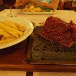 hot stone fillet steak