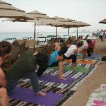 Beach yoga classes for private groups or one on one available at Yoga Vallarta
