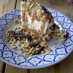 Banoffee Pie with toasted peanuts