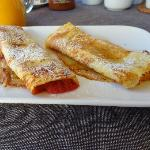 Rhubarb Pancakes...yummy!!!