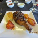 Chix drumstick, gobi Manchurian, veggie puff + pazhampori