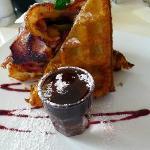 Waffle - banana, bacon