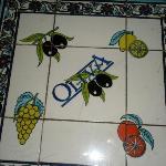 tile table where we sat