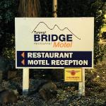 Bridge Restaurant and Motel Sign