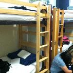 8 bed dorm room
