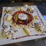 Amazing dessert created for us by the owner!