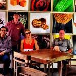 Al and Our Grou[ Visitng Casa del Bosque Vineyards