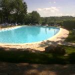 una delle due piscine