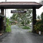 Ingang van het resort