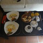 Included Breakfast delivered to our room at the time of our choosing