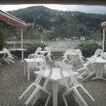 Uitzicht vanuit het restaurant.
