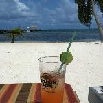 View from Athens Gate's Beach and E's famous Rum Punch :)