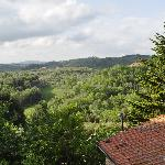 Bedroom with a view: Overlooking Tuscan countryside