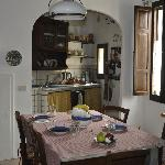 Kitchen offered ample room