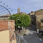 View of Castelmuzio from private rooftop terrace