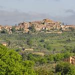 Castelmuzio perched on its hilltop