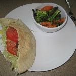 Pita and yummy vegetables