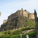 VIEW OF EDINBURGH CASTLE FROM HOSTEL