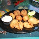 Goombays Sampler - fried coconut shrimp, parmesan scallops & jalapeno crab balls