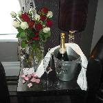 Flowers and Champagne when we arrived