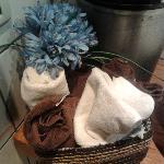 Asciugamani in bagno!