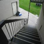 stair access to ground level view units