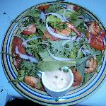 Grilled Shrimp Salad @ EITS Cafe, Newcastle, Jamaica