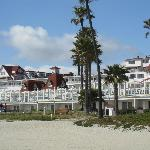 View of the California Cabanas from the beach
