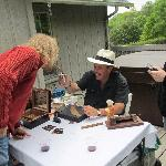 Guests at 2012 Open House - Cigars can always be found at Banner Haven