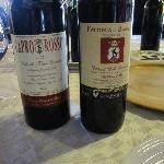 Wine we tried at the Fattoria di Bagnolo winery