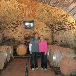 Inside Marchesi Bartolini Baldelli's cellar