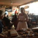 The blushing bride!