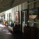 Veranda from original part of hotel
