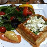 Asparagus & feta tart