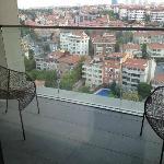 Sicht auf den Balkon