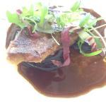 Pan seared duck foie gras, caramelised plum