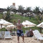 area de playa el hotel  da al mar