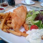 Fish and Chips at Hay's Dock Cafe (this picture legitimately doesn't do it justice)