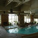 Pool and hot tub area