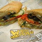 Gyro sandwich at Which Wich