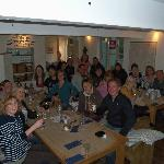 Our group having a great evening at The River Cafe