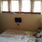 TV and Windows in bedroom
