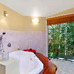 Rainforest views from your whirlpool tub!