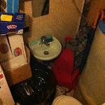 Questo è il bagno della ricezione che ci è stato offerto per le nostre necessità (solo in piedi!